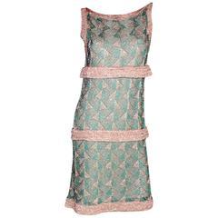Missoni Turquoise & Gold Crochet Knit Dress