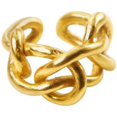 Gold Plated Bronze Giulia Barela Knot Ring