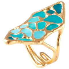 Giulia Barela Green Shield Ring