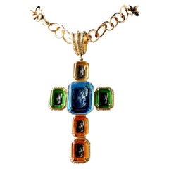 bronze and cross pendant by Patrizia Daliana