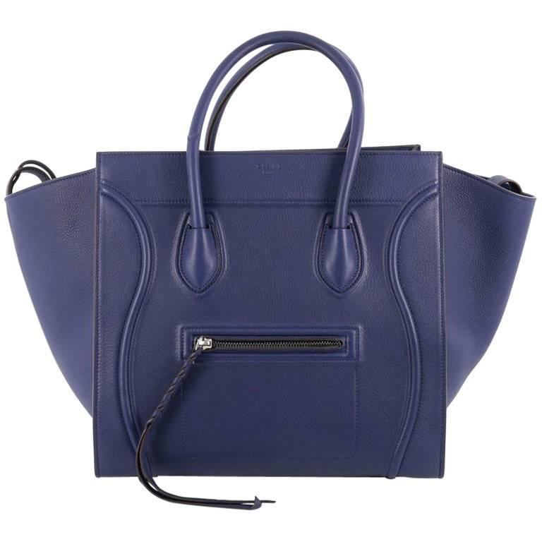 Celine Phantom Handbag Grainy Leather Medium For Sale
