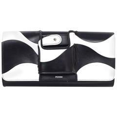 Perrin Black & White Mod La Vague La Capitale Glove Clutch Bag rt. $1,250