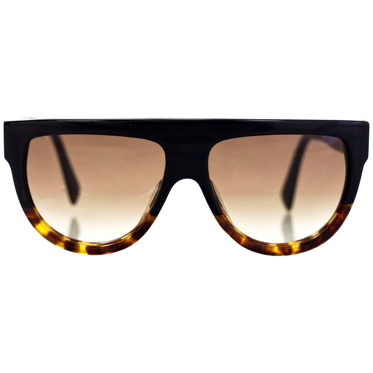 8facd82bd1 ... Black Source · Celine Shadow Flat Top Sunglasses with Case For Sale at  1stdibs