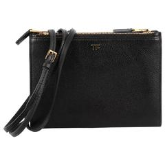 Tom Ford  Triple Zip Crossbody Bag Leather