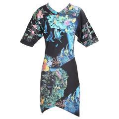 Ghesquiere for Balenciaga Aquarium Print Cotton T Shirt Dress, Spring 2003