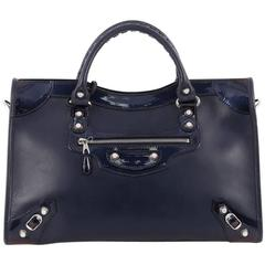 Balenciaga Holiday City Giant Studs Handbag Matte Calfskin Medium