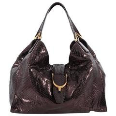 Gucci Soft Stirrup Tote Python Medium
