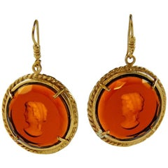 bronze and engraved Murano glass earrings by Patrizia Daliana