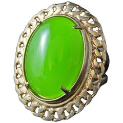 Huge bronze and paste glass ring by Patrizia Daliana
