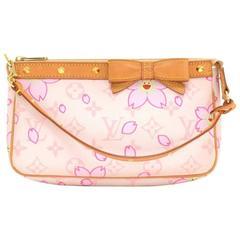 Louis Vuitton Pochette Accessories Pink Monogram Cherry Blossom Hand Bag