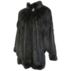 black saga mink fur coat