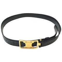 Vintage CELINE Belt Size 90 in crocodile Leather