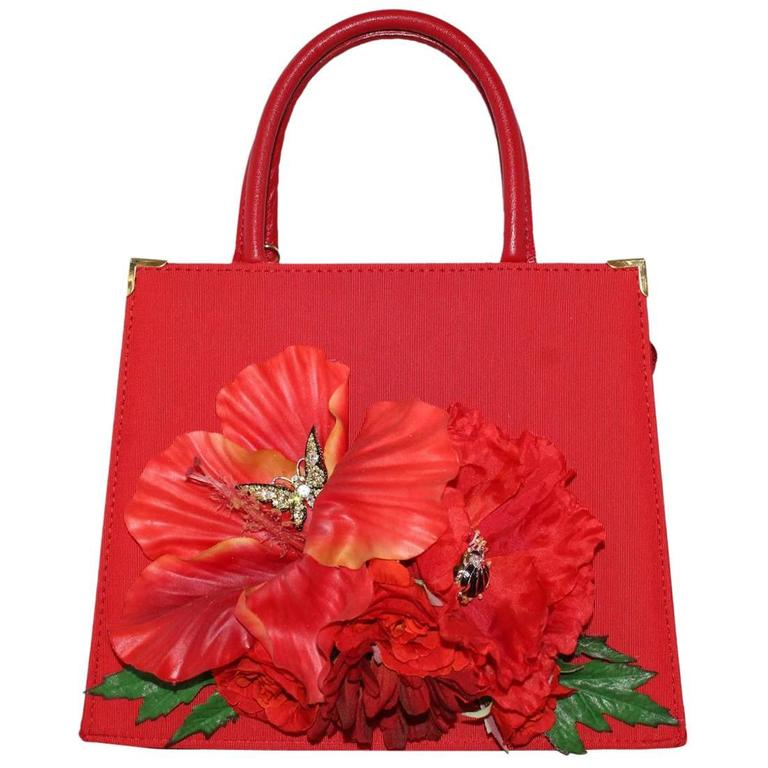 Carlo Zini  Red Poppy Bag