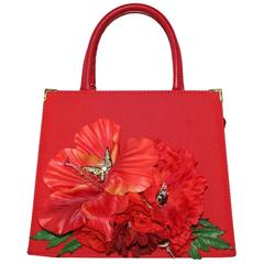 Carlo Zini  Red Poppy Bag