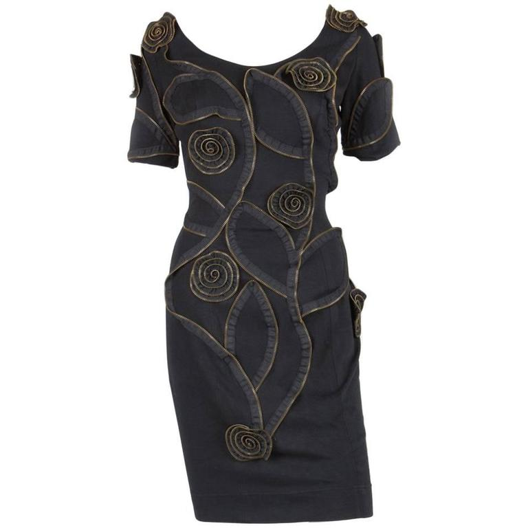 Gorgeous Moschino Black Zipped Dress