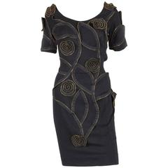 Gorgeous Moschino Black Zipped Dress