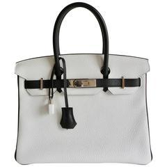 Hermes Birkin Bag 30cm Black White HSS Special Order