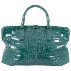 Bottega Veneta Frame Tote Crocodile Medium
