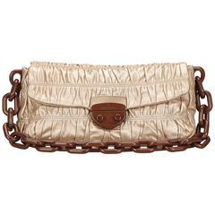 Bronze Prada Nappa Gaufre Shoulder Bag