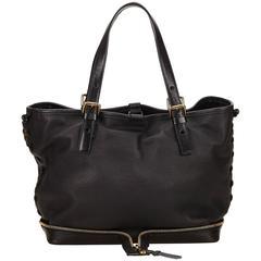 Black Chloé Leather Ellen Moyen Tote Bag