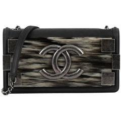 Chanel Boy Brick Flap Bag Iridescent Calfskin and Plexiglass Horizontal