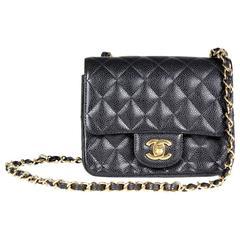 Chanel Caviar Leather Mini Flap Shoulder Bag, 2009