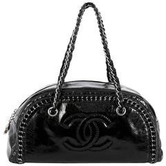 Chanel Luxe Ligne Bowler Bag Patent Medium