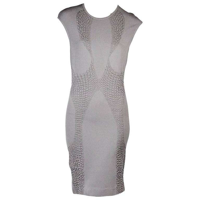 Grey Alexander McQueen Knit Dress