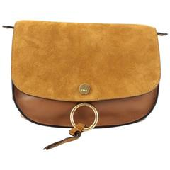 Chloe Kurtis Shoulder Bag Leather and Suede Medium
