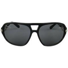 DAVID YURMAN Sunglasses Black Acetate Sterling Silver Aviator Sunglasses