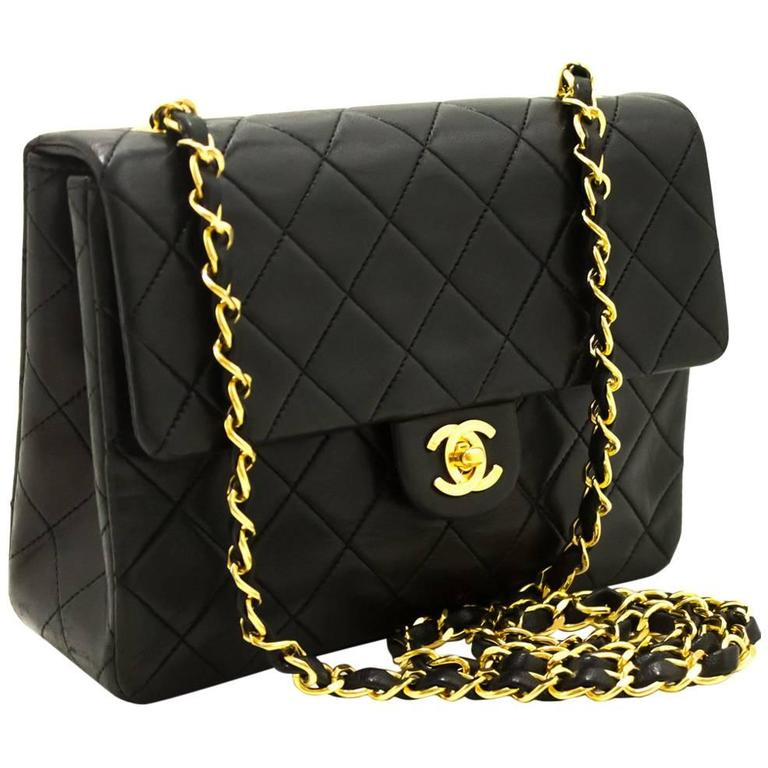 Chanel Mini Small Chain Shoulder Bag Crossbody Black