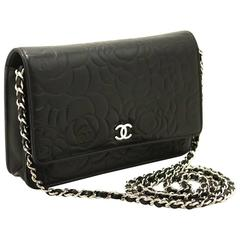 CHANEL 2013 Camellia WOC Wallet On Chain Shoulder Bag Crossbody