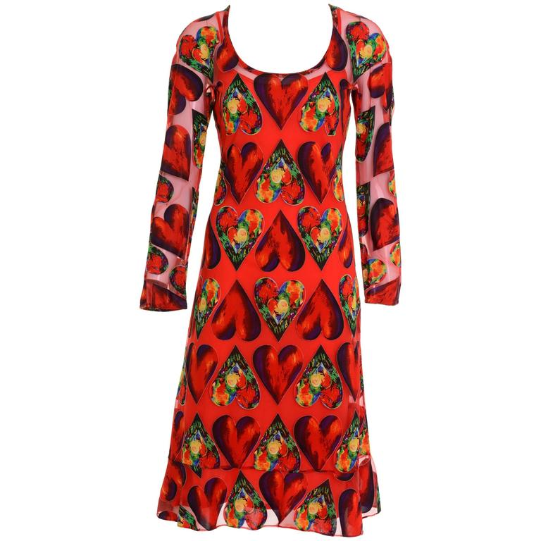 1990s Gianni Versace Couture Heart's Dress