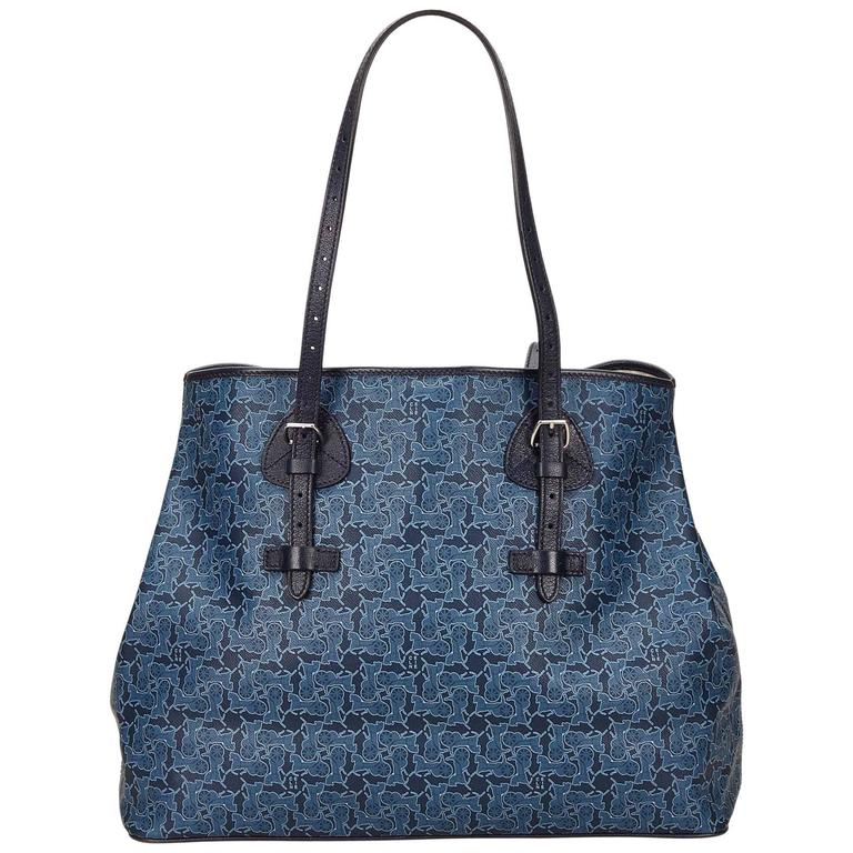 Celine Blue Tote Bag 1