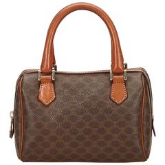 Celine Brown Macadam Mini Boston Bag