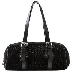 Celine Black C Macadam Shoulder Bag