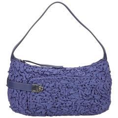 Ferragamo Blue Ruched Gancini Shoulder Bag