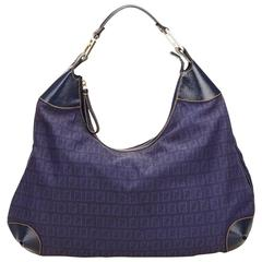 Fendi Blue Zucchino Hobo Bag