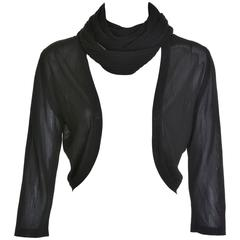 CHANEL Black Silk Bolero Sweater