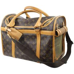 Louis Vuitton Monogram Canvas Pet Carrier with Shoulder Strap