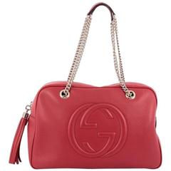 Gucci Soho Chain Zipped Shoulder Bag Leather Medium
