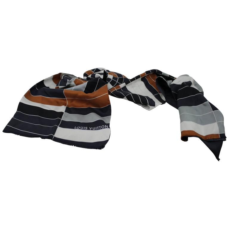 Louis Vuitton Men's Silk Scarf