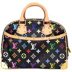 Louis Vuitton Black Monogram Multicolore Trouville Handle Bag