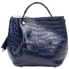 2014 Dior Marine Crocodile Leather Small Diorific Bucket Bag