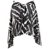 OSCAR DE LA RENTA Swimwear c.1980's Zebra Print Beach Wrap Cover Up