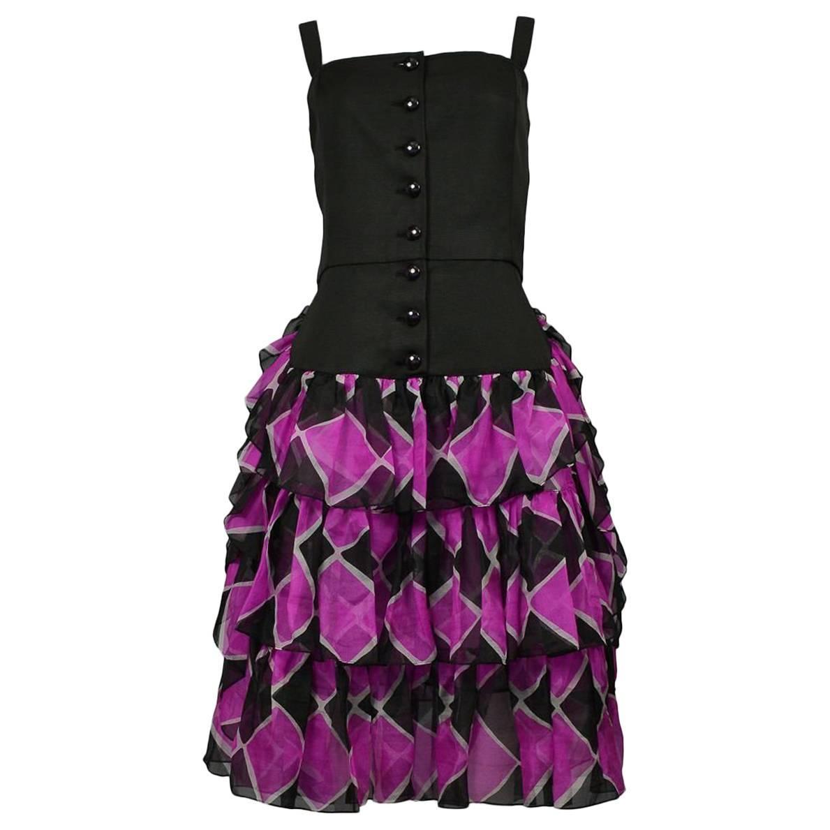 Yves Saint Laurent Harlequin Summer Dress