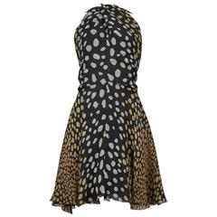 Christian Dior Speckled Halter Dress With Harness Straps 2009