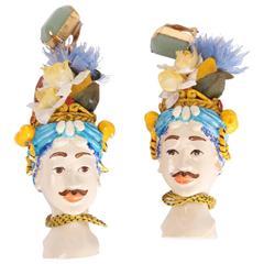 Dolce & Gabbana Sicily Blackamoor Figurine Earrings - multicolor - XXL