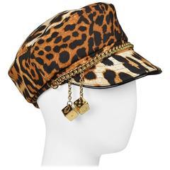 Christian Dior Iconic Leopard Gambler Hat 2004