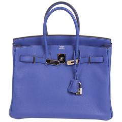Hermes Birkin 35 Togo - Blue Electric